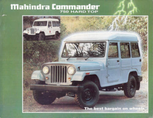 Mahindra Commander service repair manuals