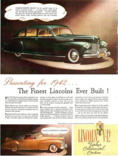 Lincoln Zephyr service repair manuals