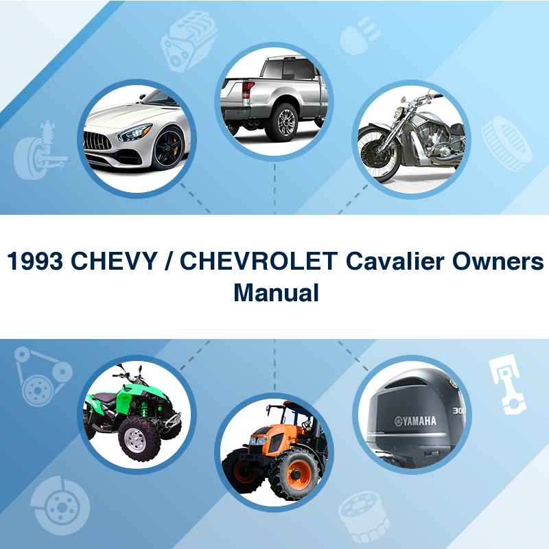 1993 CHEVY / CHEVROLET Cavalier Owners Manual