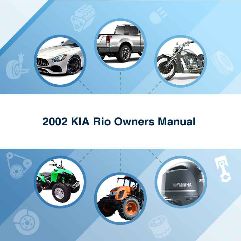 2002 KIA Rio Owners Manual