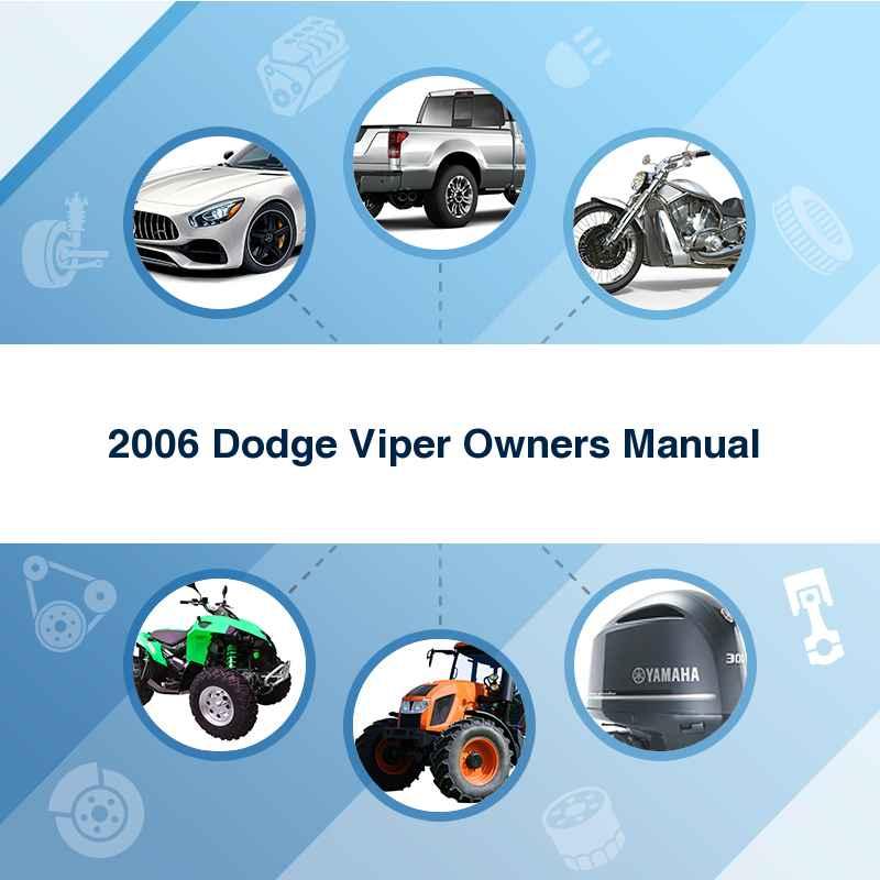 2006 Dodge Viper Owners Manual
