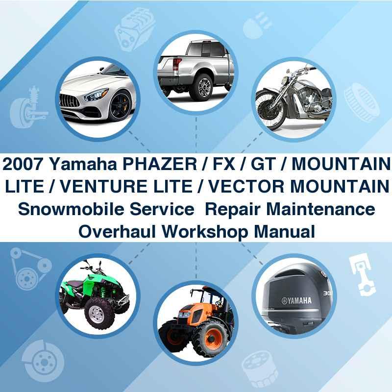 2007 yamaha vector gt mountain se snowmobile service manual