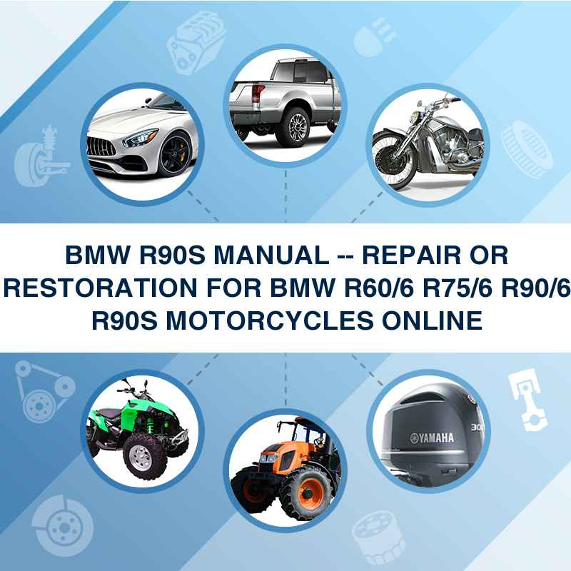 bmw r90s manual repair or restoration for bmw r60 6 r75. Black Bedroom Furniture Sets. Home Design Ideas