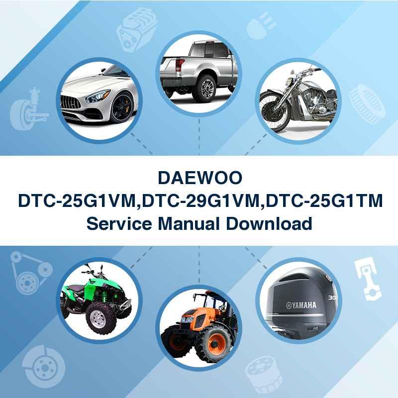 DAEWOO DTC-25G1VM,DTC-29G1VM,DTC-25G1TM Service Manual Download