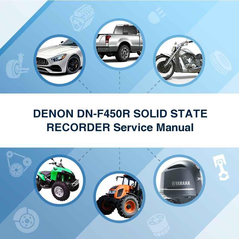 DENON DN-F450R SOLID STATE RECORDER Service Manual
