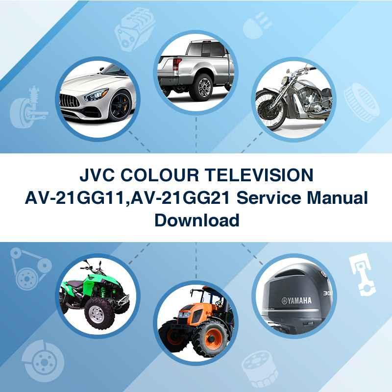 JVC COLOUR TELEVISION AV-21GG11,AV-21GG21 Service Manual Download