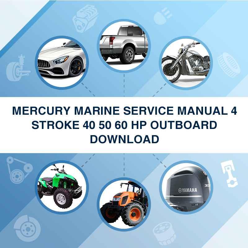 Mercury mariner outboard 75hp marathon sea pro 2 stroke workshop re.
