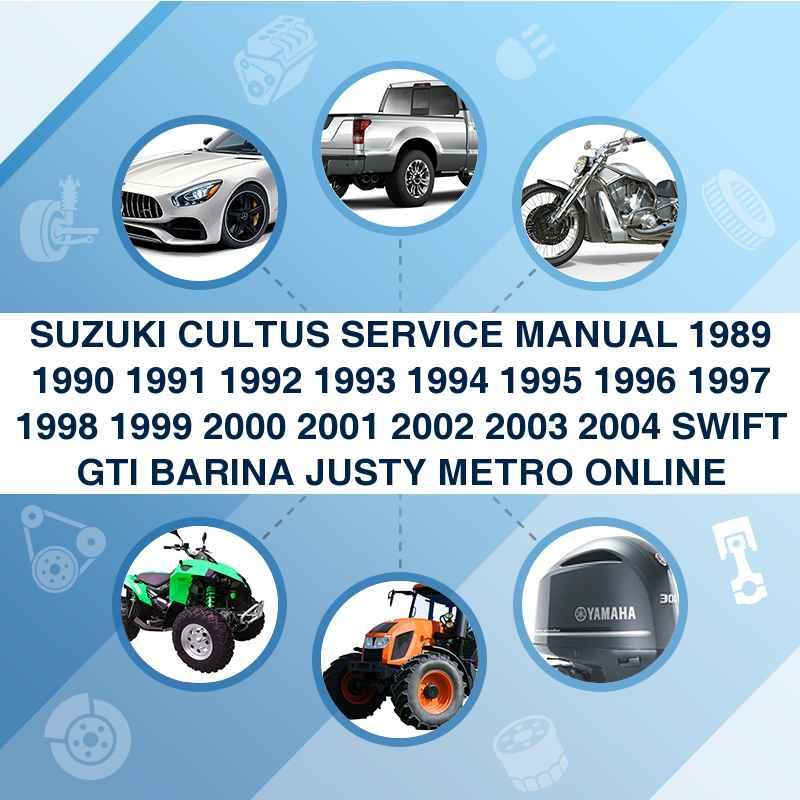 SUZUKI CULTUS SERVICE MANUAL 1989 1990 1991 1992 1993 1994 1995 199...