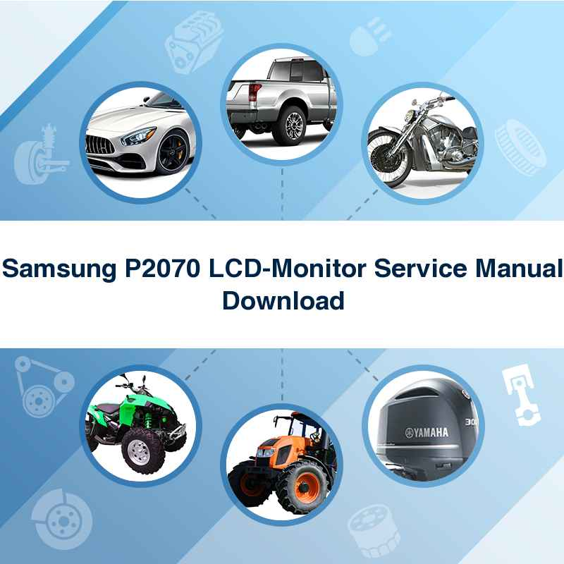 Samsung P2070 LCD-Monitor Service Manual Download