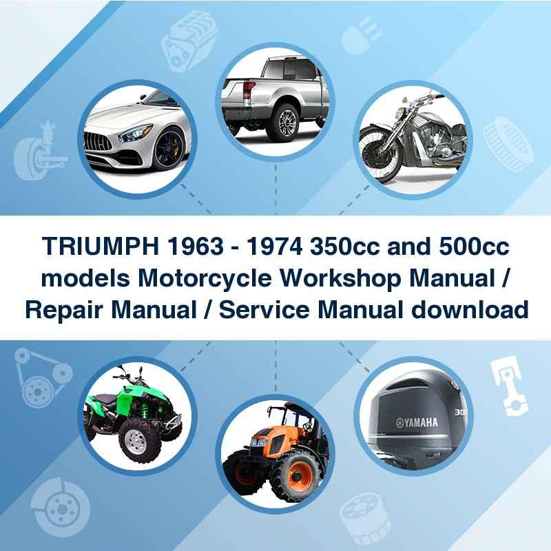 TRIUMPH 1963 - 1974 350cc and 500cc models Motorcycle Workshop Manual / Repair Manual / Service Manual download