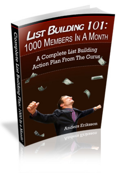 Pay for Tell U the secrets of List Building 1000 Members In A Month