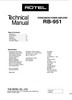 Thumbnail Rotel RB-951 Power Amplifier  Service - Technical Manual