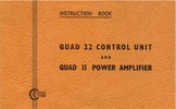 Thumbnail Quand 22 pre & Quad-II power , original Service Manual