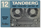 Thumbnail Tandberg Model-12 reel to reel , Owner Manual , User Guide