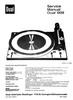 Thumbnail Dual 1209 Turntable Service Manual