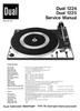 Thumbnail Dual 1224 Turntable Service Manual