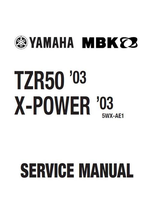 yamaha tzr 50 x power 2003 service repair workshop. Black Bedroom Furniture Sets. Home Design Ideas