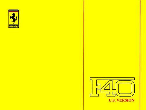 Pay for Ferrari F-40 , Original Service Technical Manual