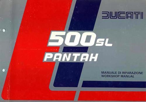 ducati 500 sl pantah authentic service workshop manual. Black Bedroom Furniture Sets. Home Design Ideas