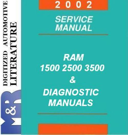 Pay for 2002 Dodge Ram 1500 2500 3500 , Service & Diagnostic Manuals