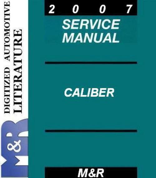 2007 dodge caliber manual pdf