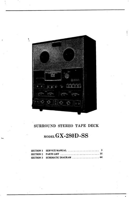 Free Akai GX-280-D-SS reel to reel tape recorder Service Manual Download thumbnail