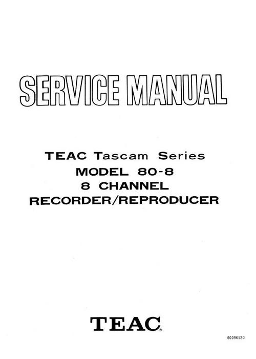 Pay for Teac Tascam series 80-8  reel tape recorder Service Manual