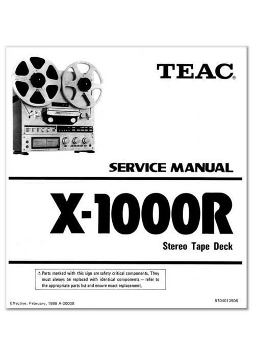 teac x 1000r reel tape recorder service manual download manuals rh tradebit com teac 3340 service manual teac a3300sx service manual