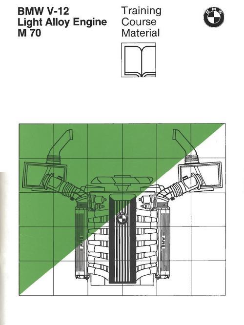 bmw m 70 v12 engine training manual a unique publication  bmw v12 engine diagram #14