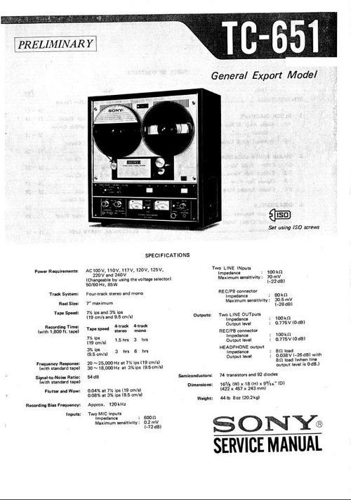 sony tc 500a wiring diagram scion tc radio wiring diagram sony tc-651 reel to reel tape recorder service manual ...