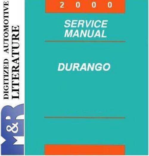 Pay for 2000 Dodge Durango Original Service Manual