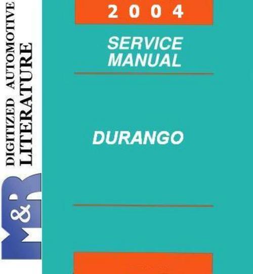 2004 Dodge Durango Original Service Manual