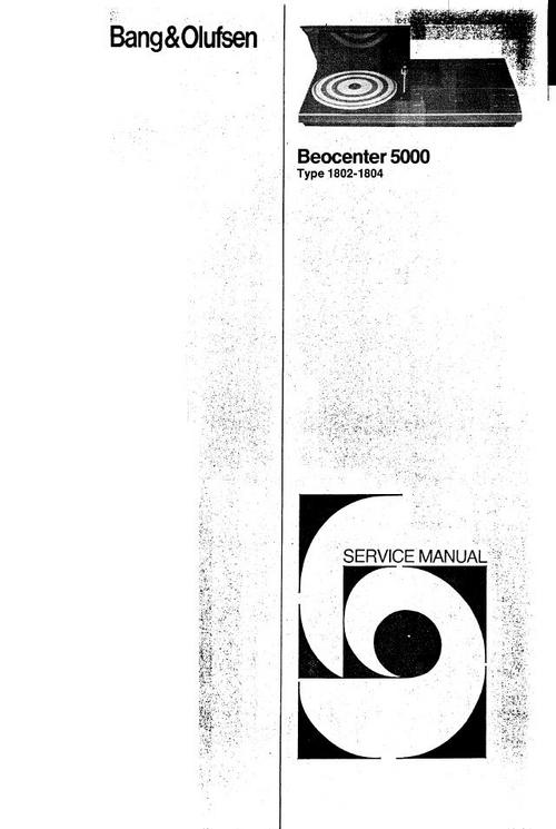 Pay for Bang & Olufsen Beocenter 5000   Service Manual