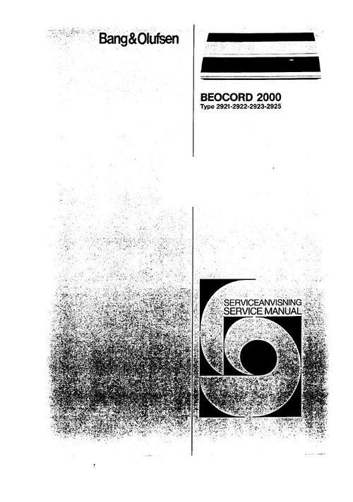 Free Bang & Olufsen Beocord 2000 Service Manual Download thumbnail
