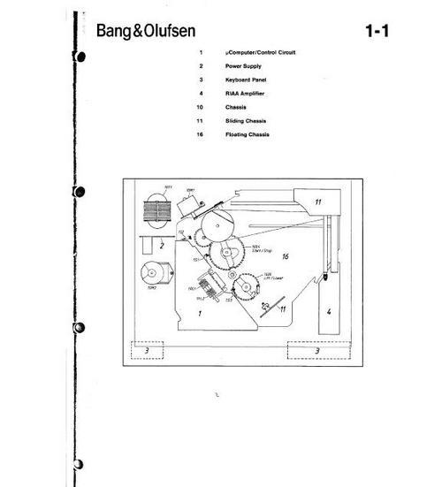 Bang  U0026 Olufsen Beogram 59xx Turntable Service Manual
