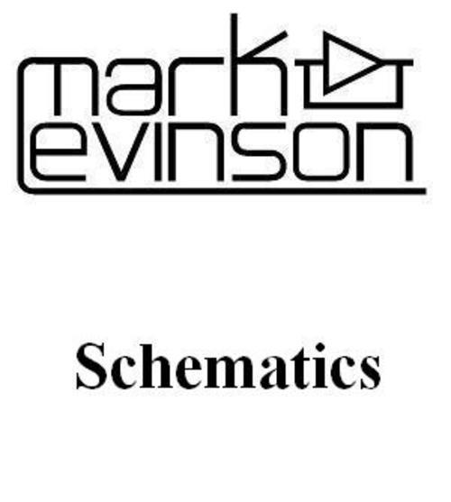 Mark Levinson no-27 5 Schematics for service and repair