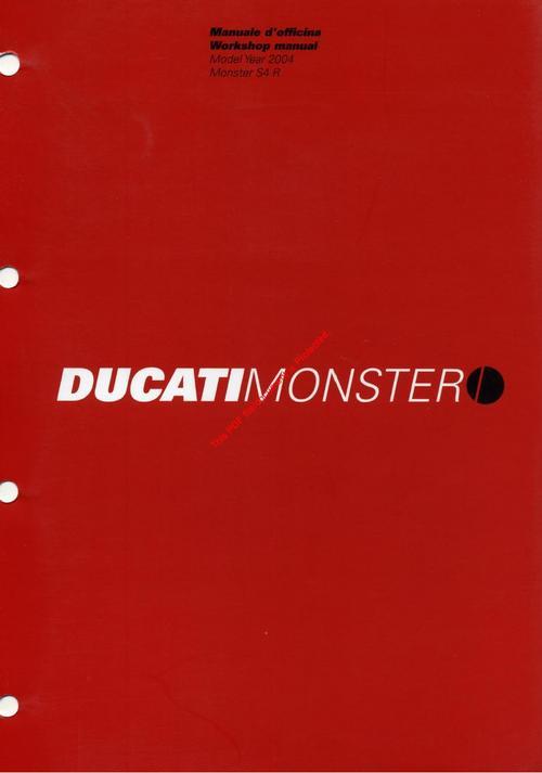 ducati s4r monster 2003 2005 manuale d officina. Black Bedroom Furniture Sets. Home Design Ideas