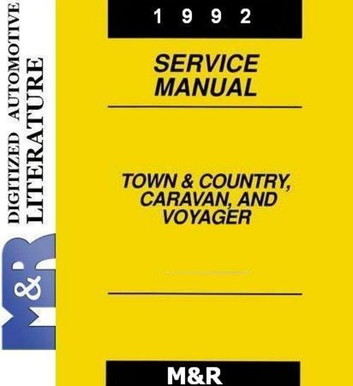 Pay for 1992 Voyager Plymouth , Original Service - Shop Manual