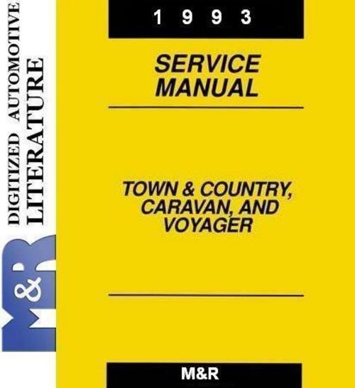 Free 1993 Voyager Plymouth , Original Service - Shop Manual  Download thumbnail