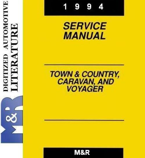 Pay for 1994 Voyager Plymouth , Original Service - Shop Manual & CNG