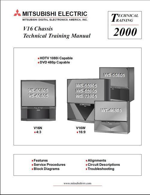 mitsubishi ws 55805 wt 46805 v16 mod tv service manual down rh tradebit com manual mitsubishi tractor d1500v manual mitsubishi colt 2007