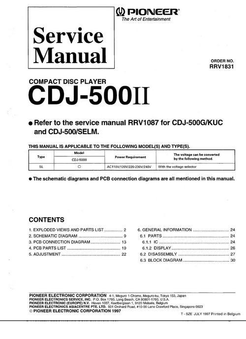 pioneer cdj 1000 mk2 manual