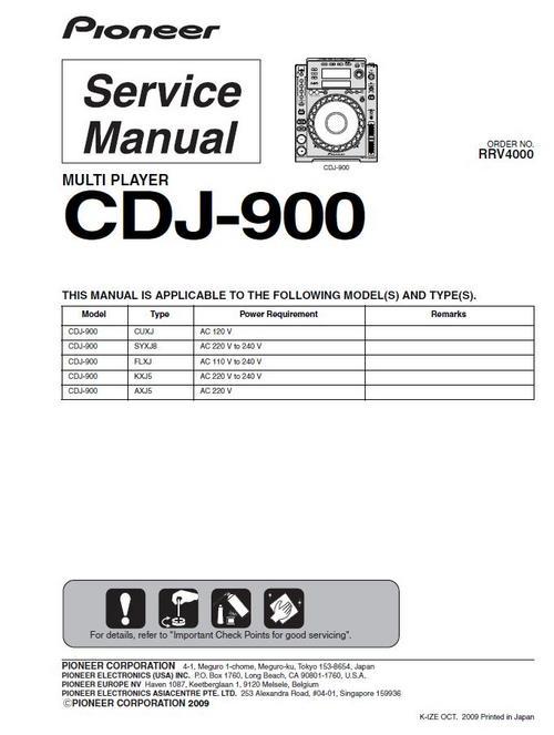 pioneer cdj 900 original service manual download manuals rh tradebit com service manual pioneer cdj 2000 service manual cdj 2000 nxs