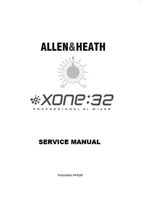 allen  u0026 heath xone-32 mixer   original service manual