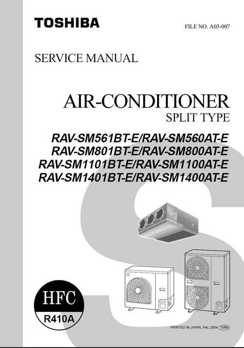 Pay for Toshiba RAV-SM561BT RAV-SM560AT  Aircondition Service Manual