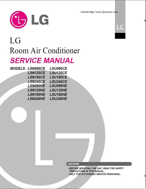 Free LG LSN-180-HE & LSU-180-HE  , Aircondition  Service Manual Download thumbnail