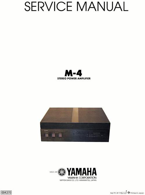 Pay for Yamaha M-4 Power Amplifier , Original Service Manual