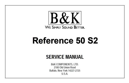 Pay for BK B&K Reference 50-S2  Original Service Manual
