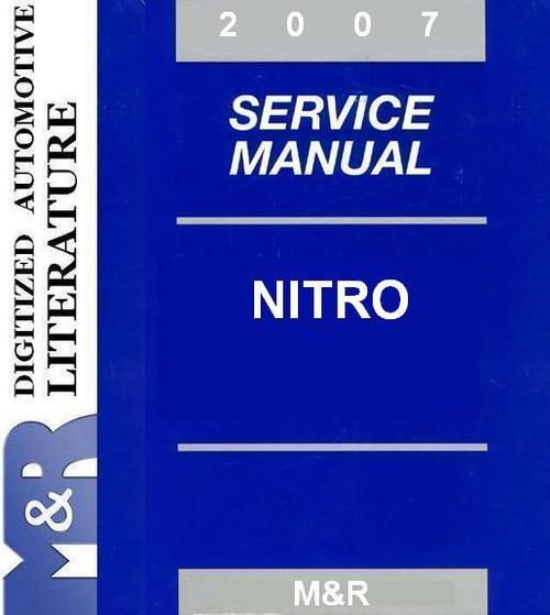 Pay for 2007 Dodge Nitro , Original Service Manual