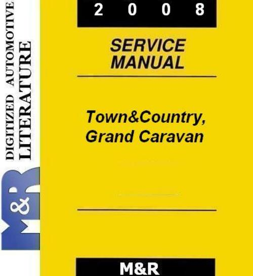 2008 town country by chrysler service manual download manuals  am 2008 chrysler town & country manual 2006 chrysler town country manual